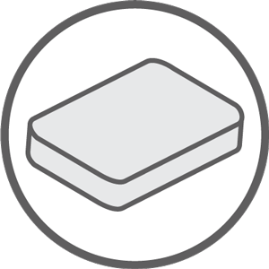 mattress icon gray