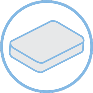 mattresses icon blue