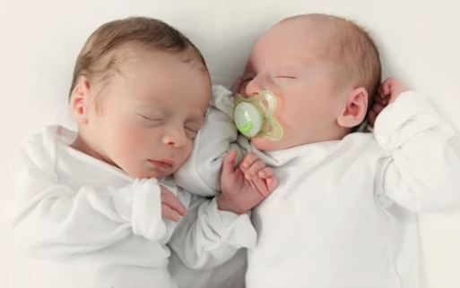 infant twins sleeping